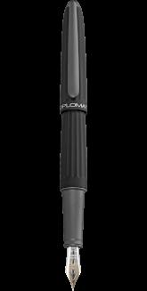 Stylo plume Diplomat Aero noir mat plume or