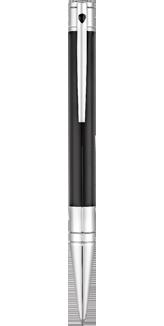 Stylo bille S.T. Dupont D-Initial Noir et chrome